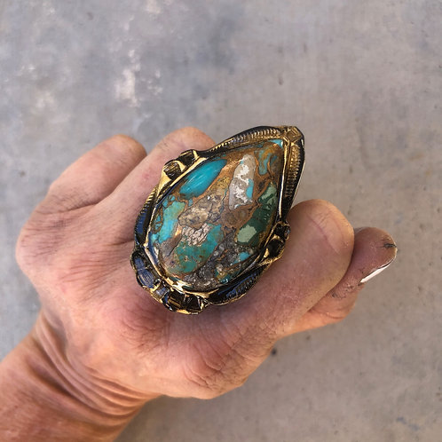 SIZE 8 /  TURQUOISE RING