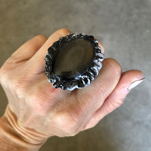 SIZE 6 / OBSIDIAN RING