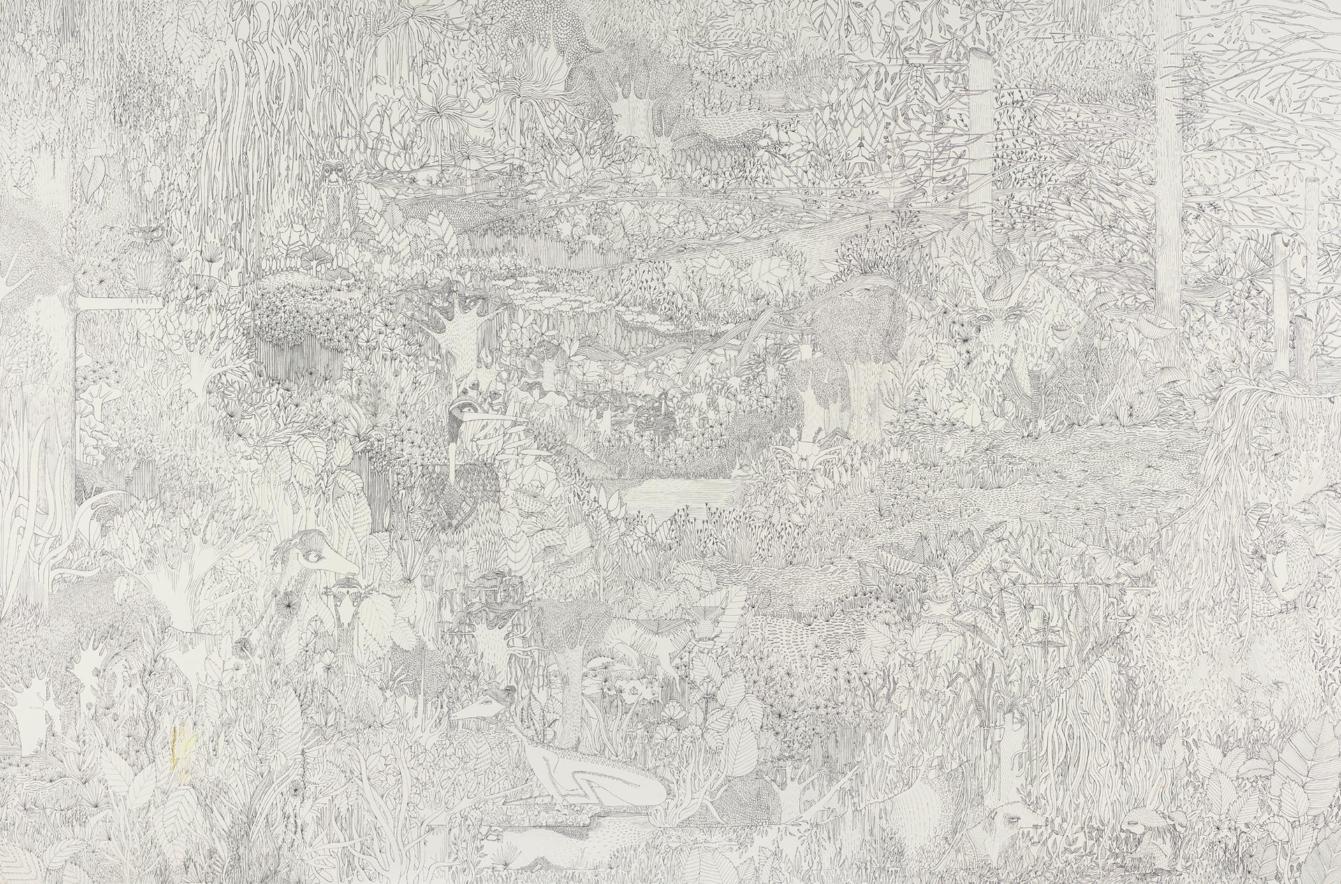Jungle et occupants // 120 x 80 cm