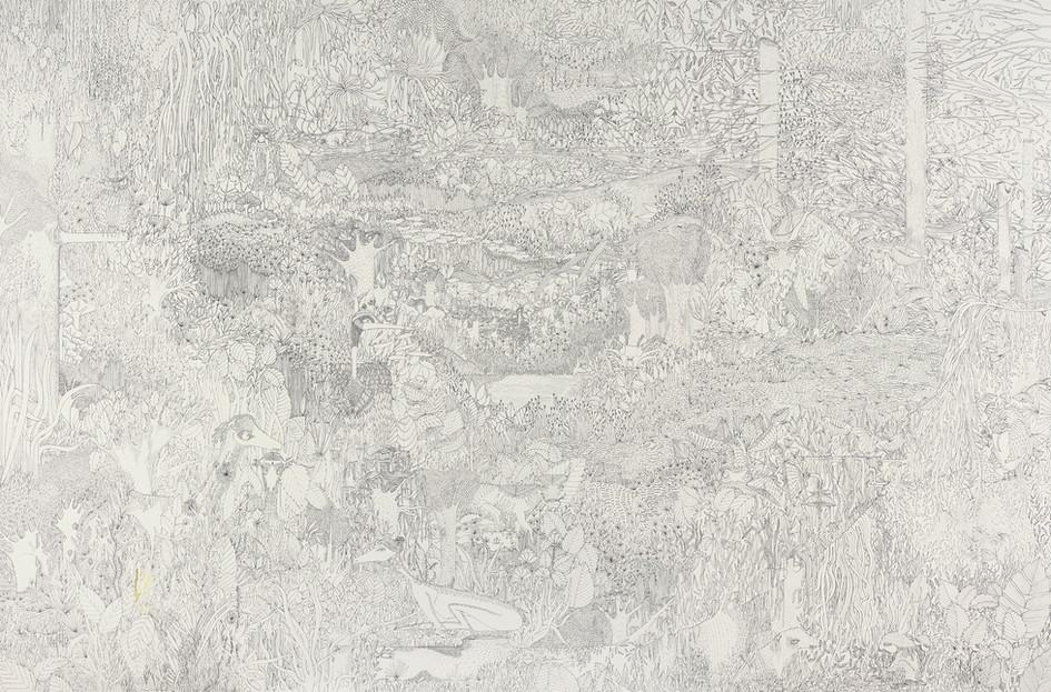 Jungle et occupants // 120 x 80 cm // Vendu