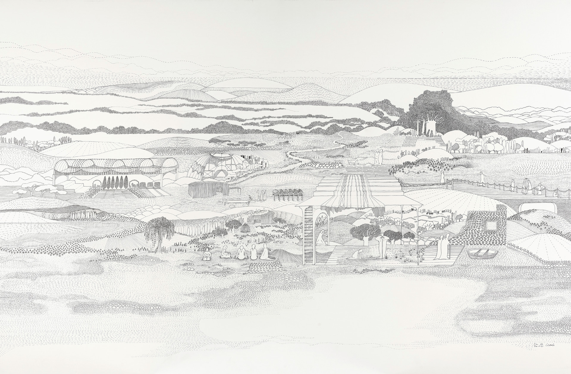 Vézelay - Sixième heure du jour // 120 x 80 cm