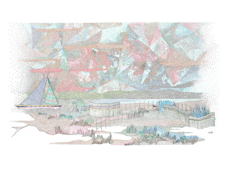 France - Petits sablés en diagonale // 80 x 60 cm // Vendu