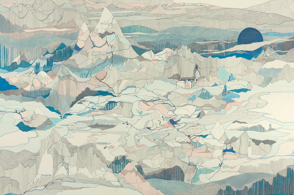 En retour de Uummannaq // 120 x 80 cm // Vendu