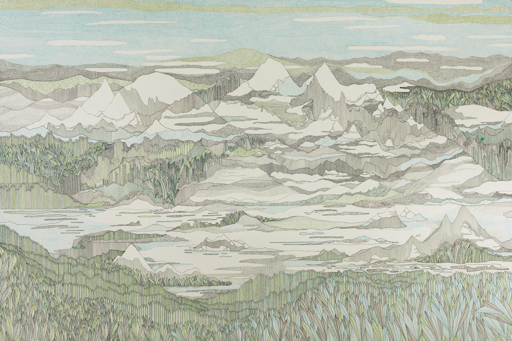 Baie de Bariay pendant six heures // 120 x 80 cm