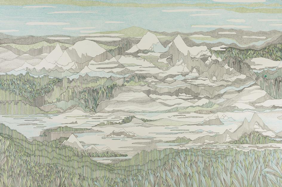 Baie de Bariay pendant six heures // 120 x 80 cm // Vendu