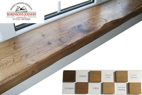 Oak window board window cill rustic waxed finish 250mm deep