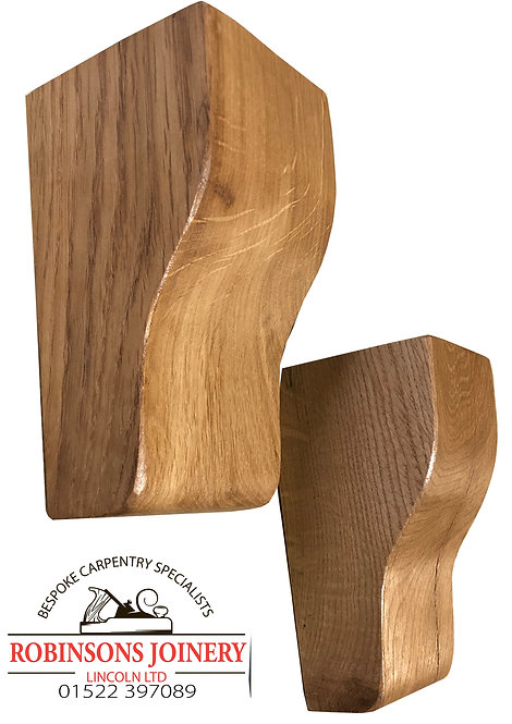 Solid Oak corbels traditional design floating shelf brackets