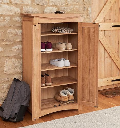 Roscoe Contemporary Oak Shoe Storage Cupboard