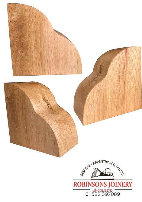Solid Oak corbels heart design floating shelf brackets