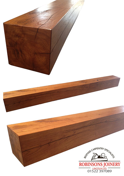 Oak Mantle Mantelpiece 6x6inch floating shelf square various sizes available