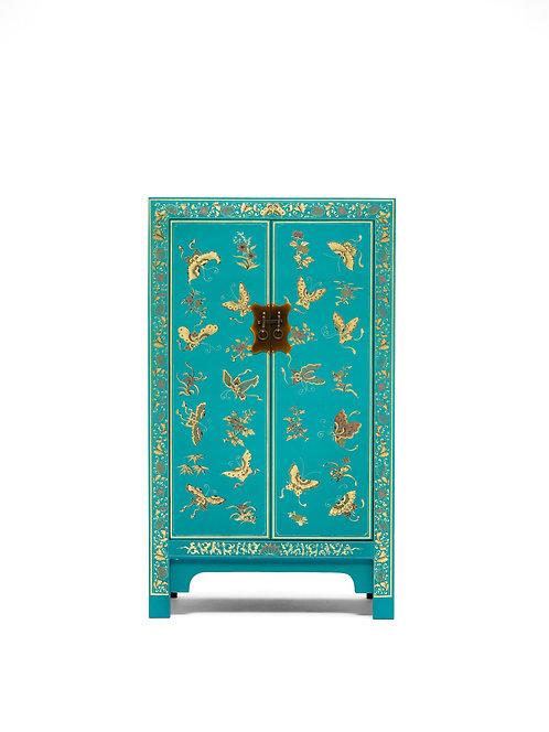 The Nine Schools Oriental Decorated Blue Medium Cabinet