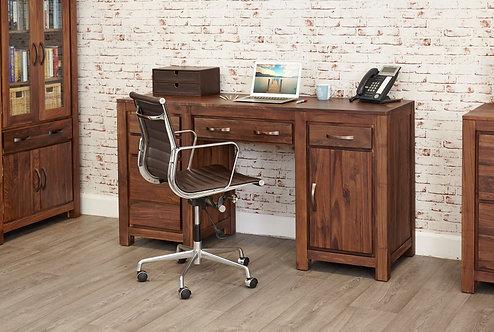 Mayan Walnut Twin Pedestal Computer Desk