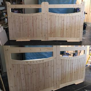 Bespoke hand made gates creative design
