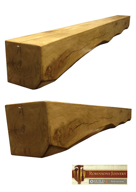 Oak mantle mantelpiece floating shelf 6x6inch oiled hand crafted smooth