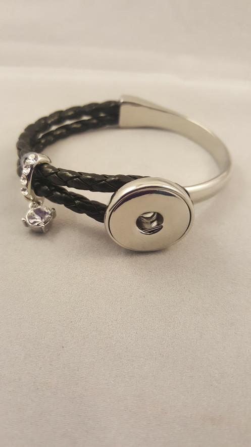 18-20 mm Fashion Metal Ginger Snap Button Charm Bracelet