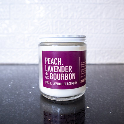 Sweet Lily & Co. - Peach, Lavender & Bourbon Soy Wax Candle