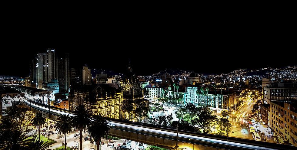 Plaza Botero square and Downtown Medelli