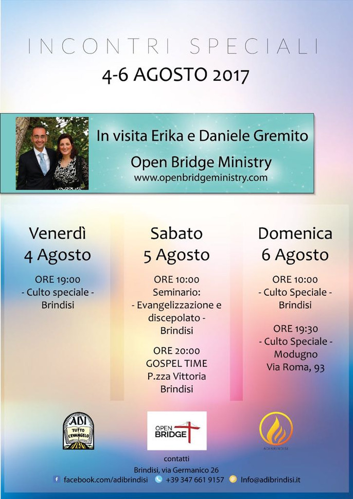 Special Meetings at Brindisi - 4/6 Agosto 2017