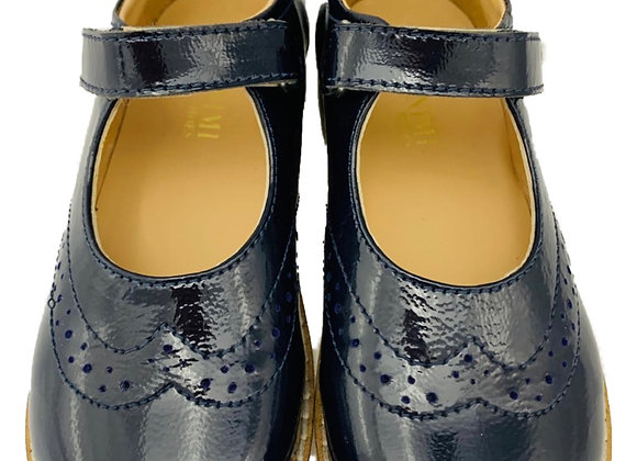 Minimi navy velcro school shoe