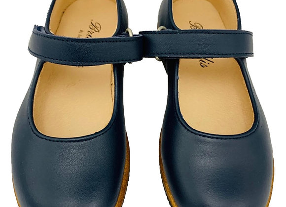 Girls navy velcro school shoe