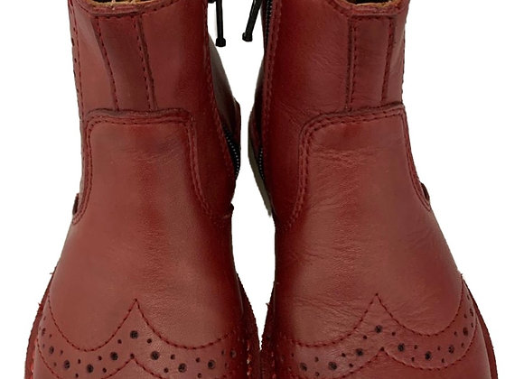 Girls red Chelsea boot