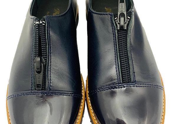 Zipper school shoe
