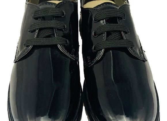 Patent school shoe