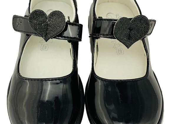 Heart designed velcro shoe