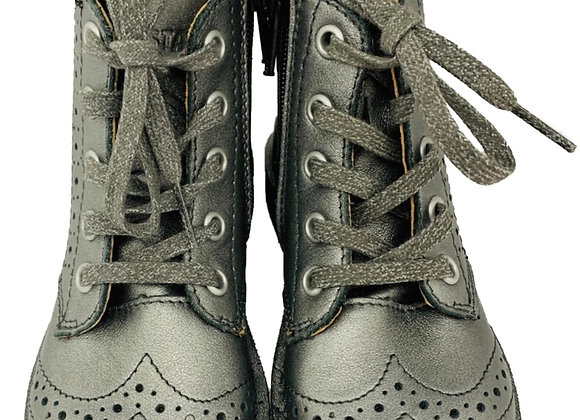 Grey lace boots