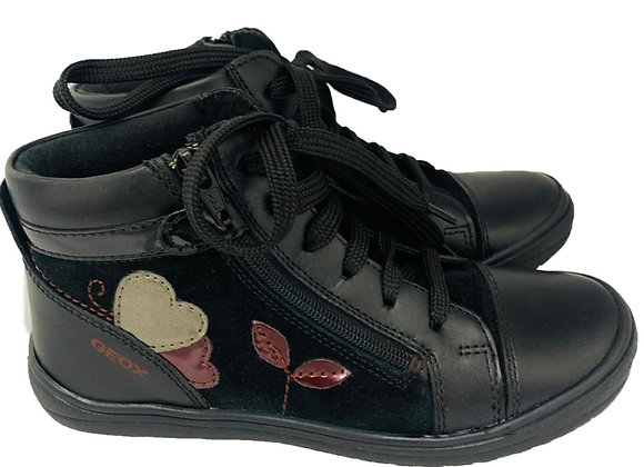 Geox heart design lace boots
