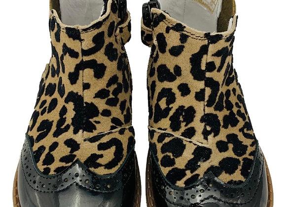 Girls leopard Chelsea boot