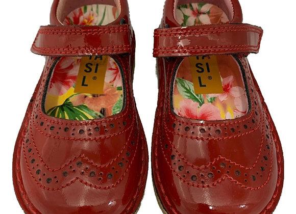 Toddler girls red velcro shoe