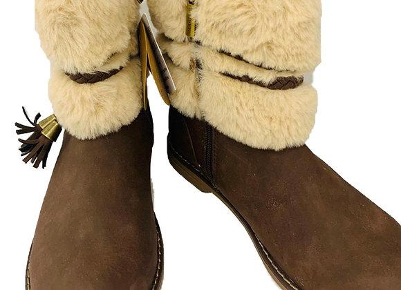 Fur tassel boots