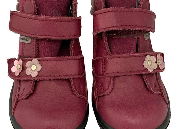 Maroon floral toddler boot
