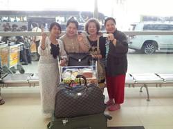 ส่งลูกค้ากลับไทย ที่สนามบินย่างกุ้ง