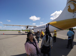 เดินทางด้วยเครื่องบินภายในค่ะ
