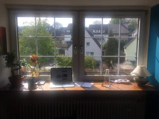 from time to time sun pops out and bright up my research working place ... cant wait for summer
