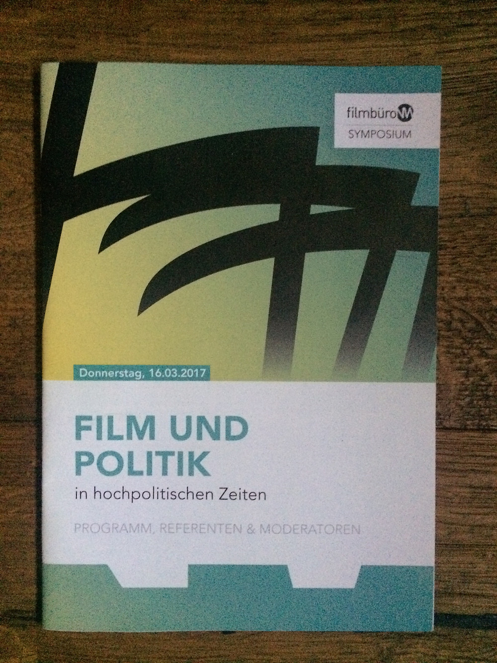 At March i visited the Film and Polit Forum at Cologne