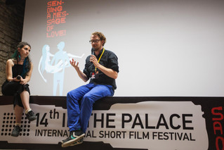 At my Q&A at the International Short Film Festival - In the Palace 14th - @ Balchik (Bulgaria)