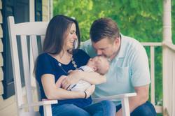 Richmond in home newborn session