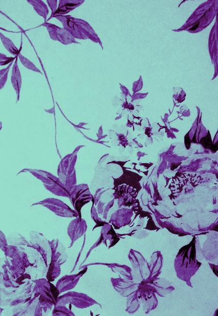 Impression fleur bleue