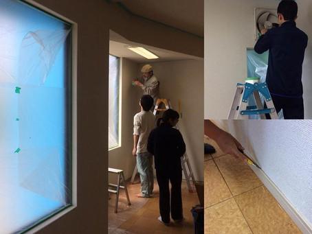 【自然と人が調和する設計デザイン】親と子の学びの場 よろず屋Blue|塗装編