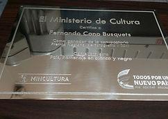 Placa Conmemorativa Ministerio de Cultura
