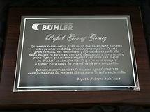 Placa Conmemorativa Buhler
