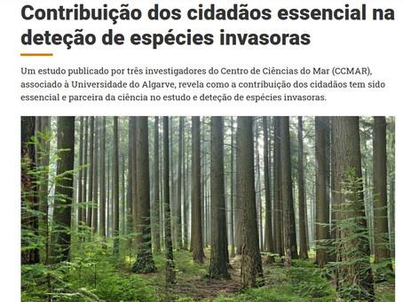 Notícia no País ao Minuto sobre ciência cidadã e invasões biológicas