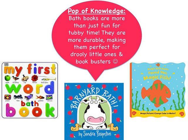 Pop of Knowledge: Bath Books!