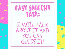 Pop of Knowledge: Easy Speechy Task!