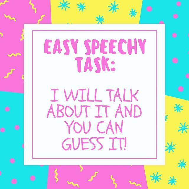 Pop of Knowledge: Easy Speechy Task!
