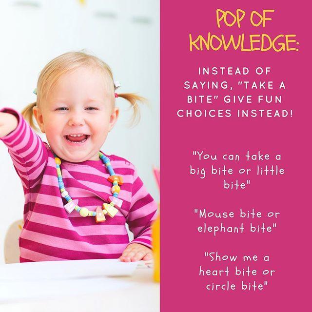 Pop of Knowledge: Mealtime Helper!
