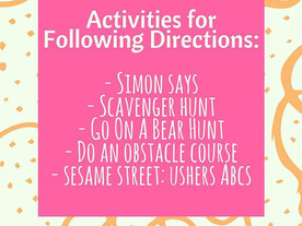 Pop of Knowledge: Following Directions!